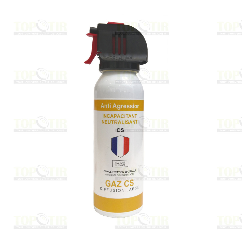 Bombe lacrymogène gaz 100ml - tête accusol