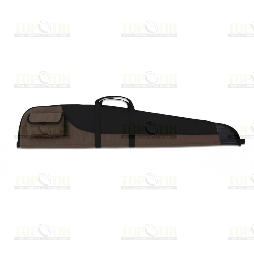 Fourreau pour carabine marron et noir avec embout renforcé 123cm
