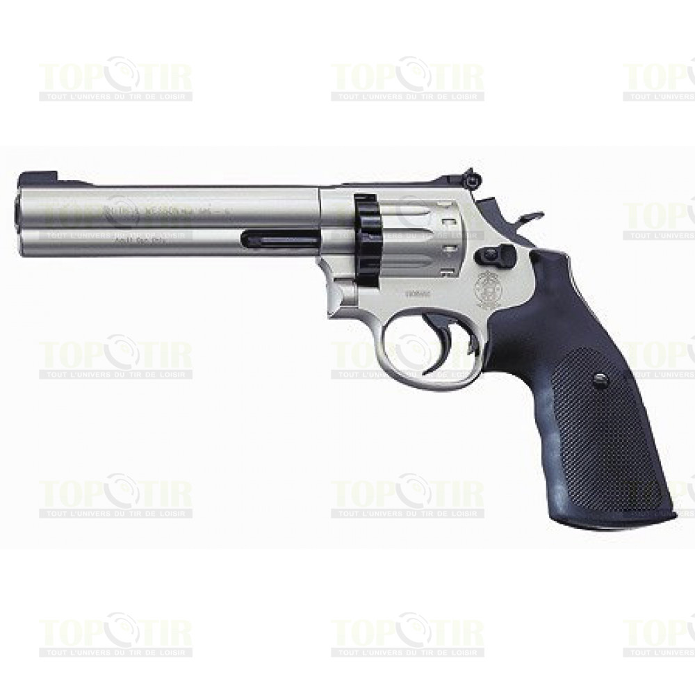 "Revolver Smith & Wesson 686 Chromé 6"" cal 4.5 mm"