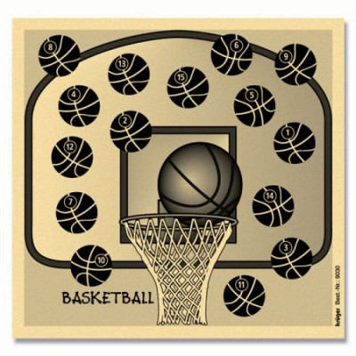 Lot de 100 cibles basketball 14x14 cm