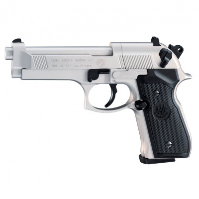 Beretta M92 FS Chromé Crosse noire UMAREX 3.5 j cal. 4.5 mm