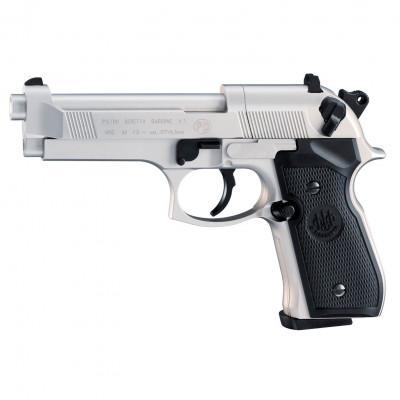 Beretta M92 FS nickel crosse noire UMAREX 3.5 j cal. 4.5 mm