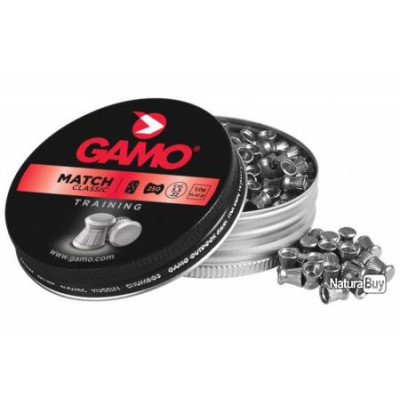 250 plombs Gamo Match Diabolo cal 4.5 mm