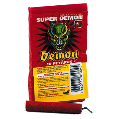 Paquet de 10 Pétards Super Demon