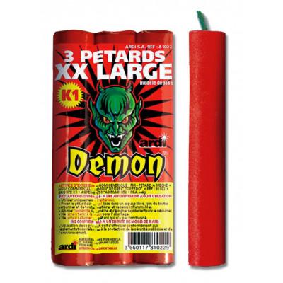 Paquet de 3 pétard Démon XXLarge