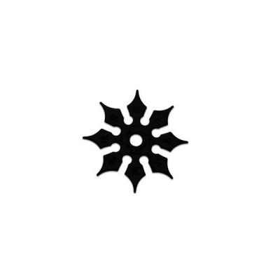 Shuriken 8 pointes imprimé noir (8 cm)