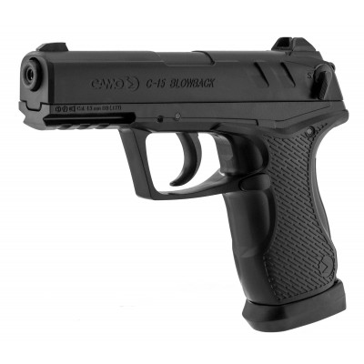 Pistolet à plombs et à billes Blowback CO2  4.5mm GAMO C15 Noir -