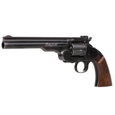 """Revolver à plombs 6"""" ASG Schofield noir vieilli 4.5 mm"""