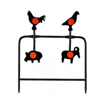 Cibles métalliques basculantes Gamo 4 animaux