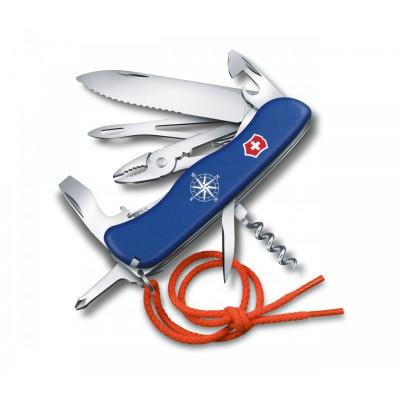 Couteau Suisse MARIN / SKIPPER bleu à cran 10 pièces