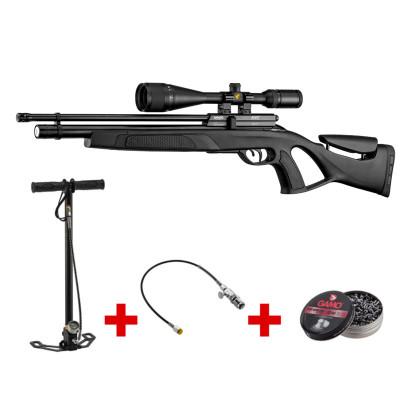 Pack carabine PCP Gamo Coyote Tactical 40j cal. 5.5mm + lunette 6-24 x 50 + pompe PCP