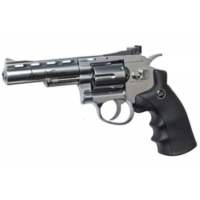 "Revolver Dan Wesson 4"" Chromé cal. 6 mm"