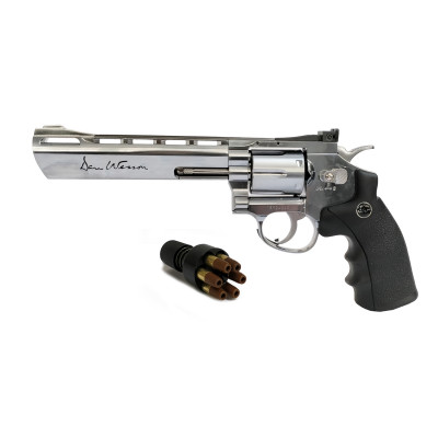 "Revolver Dan Wesson Chromé 6"" cal. 4.5 mm"