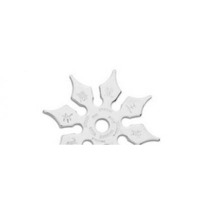 Shuriken 8 pointes imprimé chromé (8 cm)