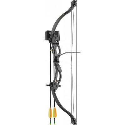Arc droitier KIRUPIRA noir pour enfants - EK Archery