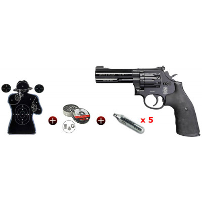 "Kit Revolver Smith & Wesson 586 noir 4"" cal. 4.5 mm"