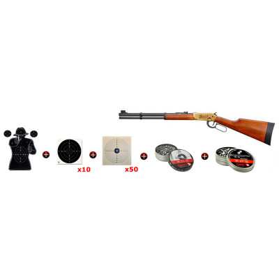 Pack Lever Action Wells Fargo Walther CO2 7.5 J. cal. 4.5 mm