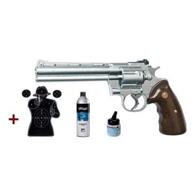 Pack Revolver R357 chromé cal. 6mm