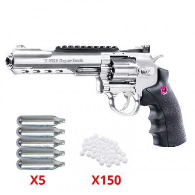 Pack Revolver Ruger Super Hawk 6 pouces silver 6mm