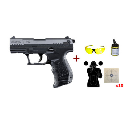 Pack Walther P22 noir Umarex cal. 6mm