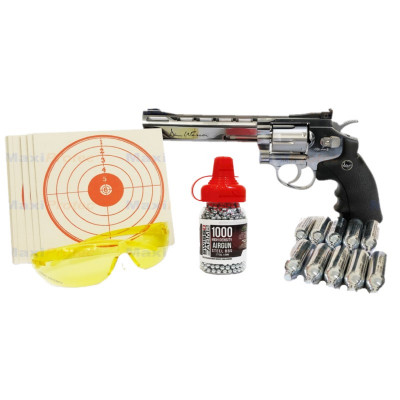 "Kit Revolver Dan Wesson Chromé 6"" cal. 4.5 mm"