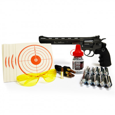 "Kit Revolver Dan Wesson Noir ""8"" cal. 4.5 mm"
