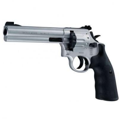 """Revolver CO2 Smith & Wesson modèle 686 6"""" cal. 4.5 mm chromé"""