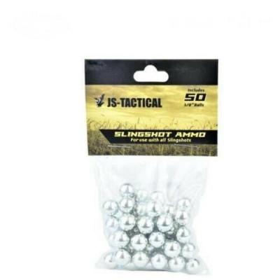 50 billes de lance pierre JS-TACTICAL 9,5 mm