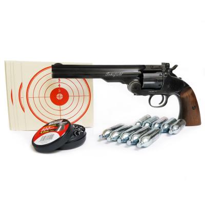 """Pack revolver à plombs 6"""" ASG Schofield noir vieilli 4.5 mm"""