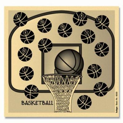 Lot de 100 cibles basketball 14x14 cm