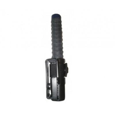 Matraque télescopique acier renforcé ESP 53cm chromée - étui PVC ceinture