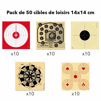 Pack de 50 Cibles 14X14
